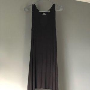 tank top flowy black dress
